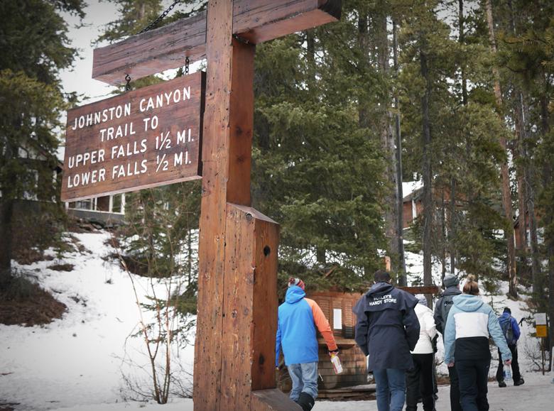 봄의 캐나다를 찾아 나서다, 존스턴 협곡 아이스워킹 - 겟어바웃